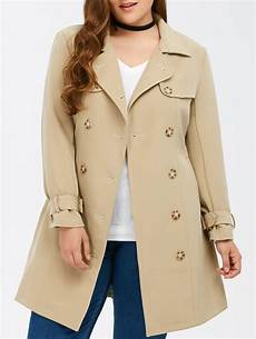 plus trench coats for racing 41 2019 plus size belted breasted