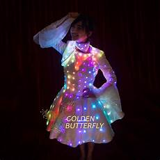 Led Lights To Wear Led Dress Illuminated Butterfly Sleeve Clothes Led Light
