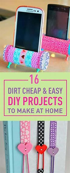 16 dirt cheap easy diy projects to make at home