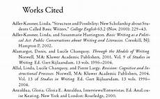 Work Cited Examples Works Cited Page For Quotes Quotesgram