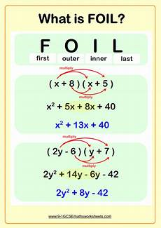 Brackets In Math Expanding Double Brackets Worksheet Practice Questions