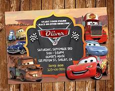 Cars Birthday Invites Disney Cars Invitation Disney Cars Birthday Party Invite