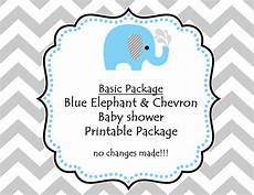 instant printable blue elephant baby shower