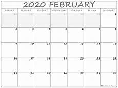 month calendar february 2020 february 2020 calendar free printable monthly calendars