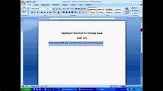 Extension Of Ms Word Ms Word Tutorial Change Case Using Keyboard Shortcuts Hd