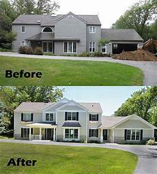before and after home remodel house exterior exterior