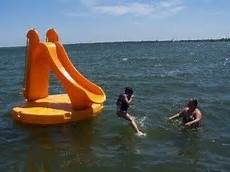 Floating Slide Inflatable Lake Slide Foter
