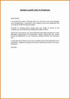 Layoff Letter Employee Write Up Template Template Business