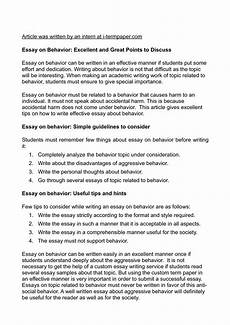 Essays To Copy Behavior Essays For Elementary Dents To Copy Middle School