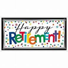 Happy Retirement Banner Printable Amscan Fun Filled Quot Happy Retirement Quot Horizontal Giant Sign