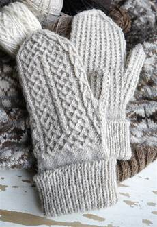 crofters mittens pattern plus a tubular cast on tutorial
