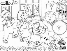 caillou caillou st patricks day parade coloring pages