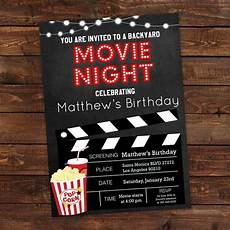 Movie Themed Invitation Template Free Printable Backyard Movie Night Party Invitation Movie Night