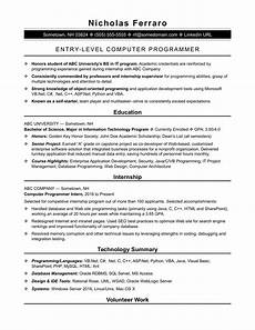 Computer Programming Student Resume Sample Resume For An Entry Level Computer Programmer