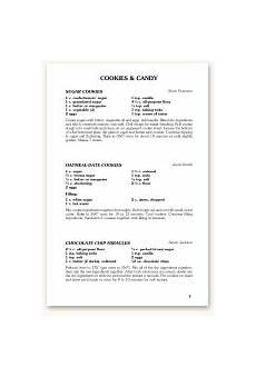 Standard Form Recipe Recipe Formats Morris Press Cookbooks