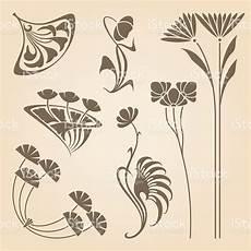 vector set of vintage nouveau design elements