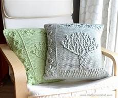 tree of pillow new overlay crochet pattern