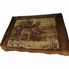 horses tapestry velvet border backed