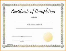 Blank Certificate Of Completion Template Blank Certificate Of Completion Printable Birthday