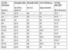 Bike Frame Size Chart Cm Bike Dynamics Safferonabike