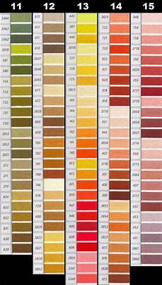 Dmc Rayon Floss Color Chart Dmc Perle Threads Color Chart Nakpunar