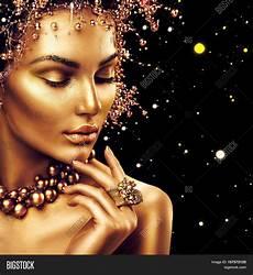 beauty fashion model girl golden image photo bigstock
