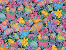 easter fabric easter eggs easter flowers home