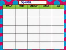 Monday Thru Friday Calendar 9 Best Images Of Monday Through Friday Planner Printable