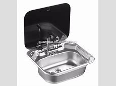 Dometic Type Stainless Steel Rectangular Hand Wash Basin Rv Sink With Toughened Glass Lid   Buy