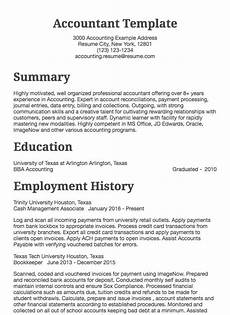 Resume Sample For Accountants Accounting Resume Samples All Experience Levels Resume