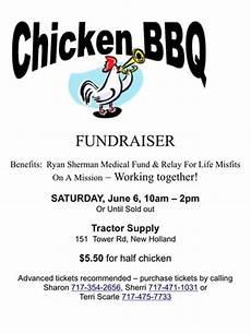 Chicken Bbq Flyer Template Ryan Sherman Fundraiser Garden Spot High School