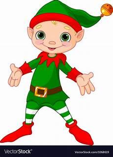 Design An Elf Google Happy Christmas Elf Royalty Free Vector Image Vectorstock
