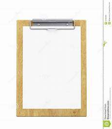 Clipboard Template Mock Up Wooden Clipboard With Blank Paper Isolated On