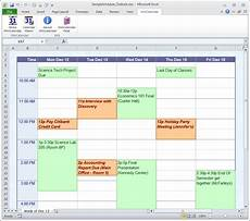 Making A Schedule In Excel Calendar Maker Amp Calendar Creator For Word And Excel