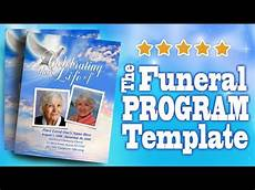 How To Make A Funeral Program Funeral Programs With Funeral Program Templates Youtube