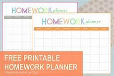 Free Printable School Planner Free Printable Homework Planner