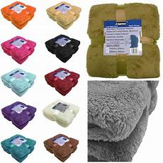 large soft warm fleece cuddly teddy throw sofa king