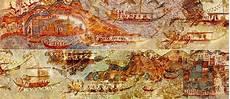 bronze age minoan flotilla fresco excavated at akrotiri