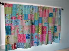 s stitches patchwork curtains in my sewing room