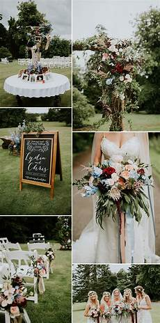 outdoor wedding at fernie castle in scotland with autumnal