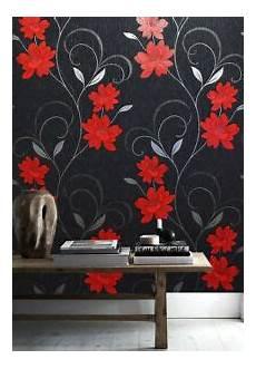 Flower Wallpaper Metallic by Flower Wallpaper Floral Textured Glitter Effect Metallic