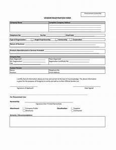 Vendor Registration Form Template Vendor Registration Form Xlsx Templates At
