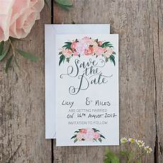 Save The Date Card Design Ginger Ray Floral Boho Wedding Save The Date Cards 10ct