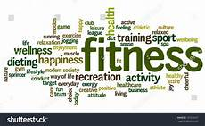 Words Related To Fitness Conceptual Image Of Tag Cloud Containing Words Related To