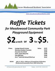 Raffle Ticket Signs Parks Corcan Amp Meadowood Residents Association