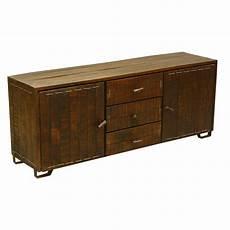 rustic reclaimed wood storage cabinet 3 drawer sideboard