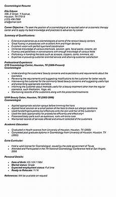 Cosmetologist Resumes Cosmetologist Resume Is Used By Cosmetologist To Get