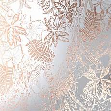 Flower Wallpaper Metallic by Floral Copper Wallpaper Hothouse Erica Wakerly