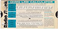 Ohm Chart Ohms Law Calculator Slide Chart Can You Still Buy Them