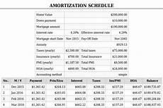 Free Mortgage Calculator And Amortization Schedule Mortgage Calculator With Pmi Mortgage Calculator